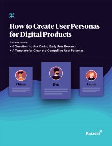 Download Praxent user persona template and ebook Praxent